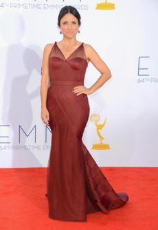HIT - WHO: Julia Louis-Dreyfus. WHERE: The 64th annual Primetime Emmys in Los Angeles on Sept. 23. WORE: Vera Wang.